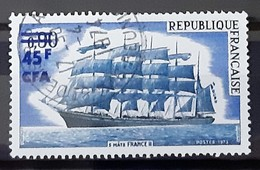 REUNION - N° 415 - Voilier 5 Mâts France II - Oblitéré (o) - Reunion Island (1852-1975)