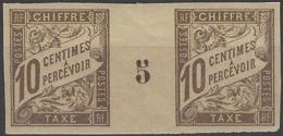Colonies Générales Taxes N° 19 10c Brun Millésime 5 Qualité: ** Cote:  € - Taxes