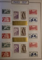 Colonies Grandes Séries Postes N° 1937 Exposition Internationale De Paris 1937 126 Valeurs Qualité: * Cote: 319 € - 1937 Exposition Internationale De Paris