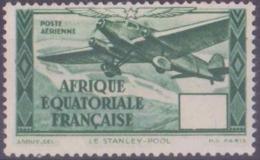 Afrique équatoriale Française Poste Aérienne N° 35 5f Vert Sans Valeur Dans Le Cartouche Qualité: * Cote:  € - A.E.F. (1936-1958)