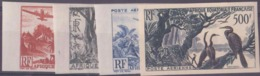 Afrique équatoriale Française Non Dentelés Poste Aérienne N° 50 à 53 Paysages Et Faune 4 Valeurs Qualité: ** Cote: 134 € - A.E.F. (1936-1958)
