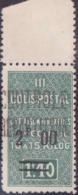 "Algérie Colis Postaux N° 36 A 2f Sur 1f10 Vert ""grand 2"" Bdf (n° Dallay) Qualité: ** Cote: 140 € - Algérie (1924-1962)"