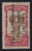 Cameroun Postes N° 52 2f Corps Expéditionnaire Carmin Et Brun (froissure Transversale) Qualité: * Cote: 325 € - Cameroun (1915-1959)