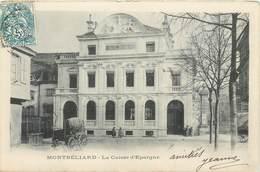 CPA 25 DOUBS MONTBELIARD La Caisse D'Epargne - BYRRH - Attelage - Précurseur - Montbéliard