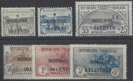Indochine Postes N° 90 à 95 Orphelins Surcharés 6 Valeurs Qualité: * Cote: 341 € - Indochine (1889-1945)