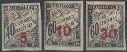 Indochine Taxes N° 2 , 3 Et 4 Timbres Taxes Des Colonies Surchargés 3 Valeurs Qualité: * Cote: 120 € - Indochine (1889-1945)