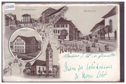 GRUSS AUS HUTTWIL - LITHO BRUNE - B ( USURE AUX ANGLES ) - BE Bern