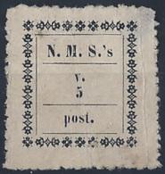 Madagascar Timbres Des Missionnaires Norvégiens N° 1 5v Noir (leger Défaut) Qualité: (*) Cote: 825 € - Madagascar (1889-1960)