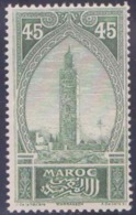 Maroc Postes N° 74 45c Koutoubia Vert Qualité: ** Cote: 30 € - Maroc (1891-1956)