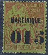 Martinique Postes N° 6 015 Sur 20c Brique Sur Vert Qualité: (*) Cote: 75 € - Neufs
