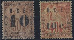 Nouvelle-Calédonie Postes N° 12 Et 13 Obl 10c Sur 30c Et 10c Sur 40c TB Qualité: * Cote: 52 € - Nouvelle-Calédonie