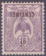 Nouvelle-Calédonie Postes N° 113 C 5c Sur 15c Violet Surcharge Renversée Qualité: * Cote: 60 € - New Caledonia