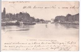 Grenoble Cpa L'Isère Et Le Quai Des Allobroges Anno 1902 - Grenoble