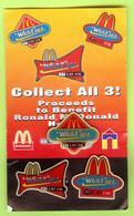 3 Pin's Mac Do McDonald's White Caps '97 (Carton Usé) - 2AA08 - McDonald's