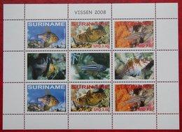 Surinam / Suriname 2008 POISSONS TROPICAUX FISH VIS VISSEN Complete Sheet (ZBL 1579-1584 Mi 2229-2231) POSTFRIS / MNH ** - Surinam
