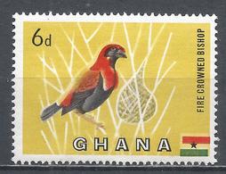 Ghana 1959. Scott #55 (MNH) Blackwinged Red Bishop, Bird * - Ghana (1957-...)
