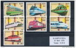 Kampuchéa. Trains - Kampuchea