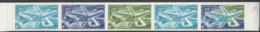 Polynésie Essais De Couleur Poste Aérienne N° 74 20f Avion DC 10 En Bande De 5 Qualité: ** Cote:  € - Poste Aérienne