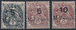 Port-Saïd Postes N° 61 à 63 Blanc 5m Sur 1c, 5m Sur 2c, 10m Sur 2c 3 Valeurs Qualité: * Cote: 90 € - Neufs