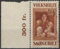 Sarre Postes N° 147 10f Brun-rouge Au Profit Des œuvres Populaires Bdf Qualité: * Cote: 138 € - 1920-35 Société Des Nations