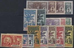Sénégal Postes N° 30 à 46 17 Valeurs (38 Et 42 Obl) Qualité: * Cote: 335 € - Neufs