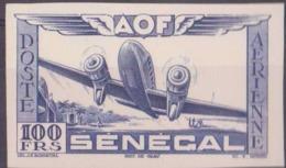 Sénégal Poste Aérienne N° 33 100f Essai En Bleu Sur Bristol Qualité: (*) Cote: 0 € - 1947-56 Occupation Alliée