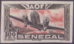 Sénégal Poste Aérienne N° 33 100f Essai En Noir Et Orange Non Dentelé Qualité: ** Cote: 0 € - Neufs