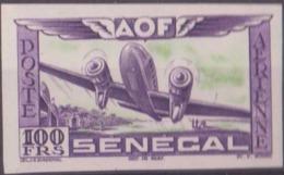 Sénégal Poste Aérienne N° 33 100f Essai En Violet Et Vert Non Dentelé Qualité: ** Cote: 0 € - Neufs