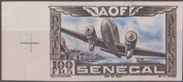 Sénégal Poste Aérienne N° 33 100f Essai En Noir Et Bleu Non Dentelé Bdf Avec Croix De Repère Qualité: ** Cote: 0 € - Neufs