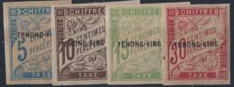 Tchong King Taxes N° 1 à 4 4 Valeurs Qualité: * Cote: 160 € - Tch'ong-K'ing (1902-1922)