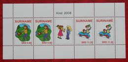 Surinam / Suriname 2008 Kinderzegels Child Welfare Complete Sheet  (ZBL 1576-1577  Mi 2250-2251  Sc -) POSTFRIS / MNH ** - Surinam
