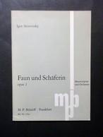 Musica Spartiti - I. Strawinsky - Faun Und Schäferin - Opus 2 - M. P. Belaieff - Vecchi Documenti