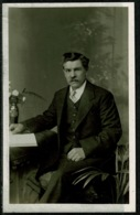 Ref 1243 - Early Real Photo Postcard - Old  Man With Moustache - Coventry Photographer - Photographs