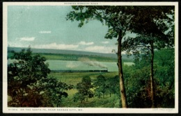 Ref 1243 - USA Postcard - Steam Railway Train - On The Santa Fe Near Kansas City Missouri - Kansas City – Missouri