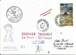 YT 666 - Cheminées Volcaniques - Escale Du Marion Dufresne à Djibouti - Djibouti (1977-...)