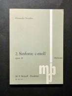 Musica Spartiti - A. Scriabin - 2. Sifnonie C- Moll - Opus 29 - Orchester - Vecchi Documenti