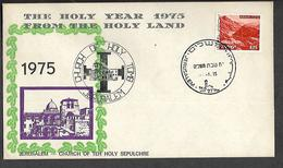 1975. ILLUSTRATED  COVER  FROM THE  HOLY  LAND - Israel