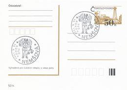 I0495 - Tschechoslowakei (1992) Nemsova: 750 Jahre Alt (sv Michael Archangel Im Kostüm Eines Römischen Soldaten, Schwert - Briefe U. Dokumente