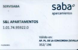 Spain Parking Cards, (1pcs) - Spain