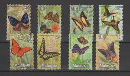 Malaisie 1970 Papillons Série 68-75 8 Val ** MNH - Malaysia (1964-...)