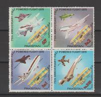 Pakistan 1978 Avions Série 456-59 4 Val ** MNH - Pakistan