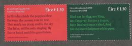 Ierland  2018  Armistice Day    WWI   Eerstewereldoorlog     Postfris/mnh/neuf - 1952-.... (Elizabeth II)