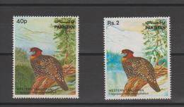 Pakistan 1981 Oiseau Série 546-48 2 Val ** MNH - Pakistan