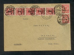 DR 1923, Inflation, Bedarfsbrief Von Berlin Nach LeLocle, Canton Neuchatel, Mi. # 309 A Wa (5x), 318 A (2x) - Allemagne