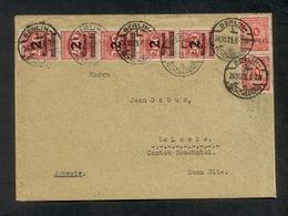 DR 1923, Inflation, Bedarfsbrief Von Berlin Nach LeLocle, Canton Neuchatel, Mi. # 309 A Wa (5x), 318 A (2x) - Oblitérés