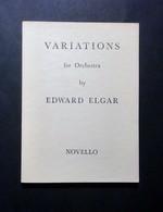 Musica Spartiti - Variations For Orchestra - Edward Elgar - Vecchi Documenti