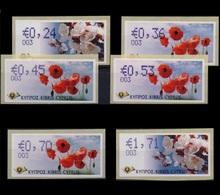CYPRUS 2008 FLOWERS COMPLETE MNH SET CODE 003 - Nuevos