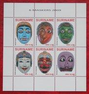 Surinam / Suriname 2009 Maskers Mask Maschere Masques (ZBL 1679-1684  Mi 2355-2360) POSTFRIS / MNH ** - Surinam