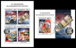 MOZAMBIQUE 2018 - Vostok 6, V. Tereshkova, M/S + S/S. Official Issue - Space