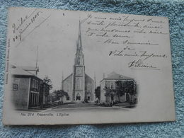 Cpa Canada Québec Fraserville église 1908 - Quebec